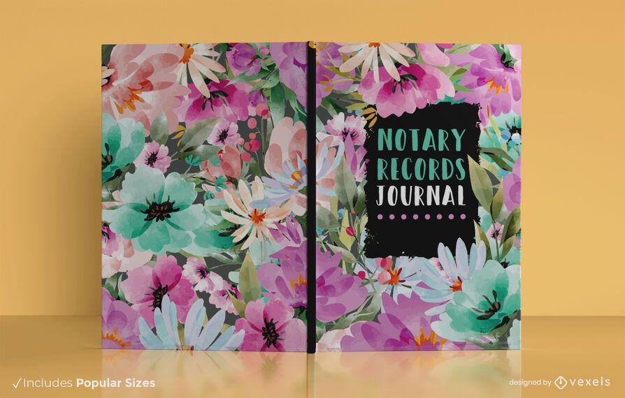 Diseño de portada de libro de registros de notario