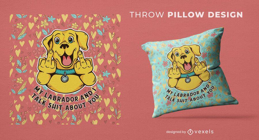 Mi diseño de almohada de tiro de labrador
