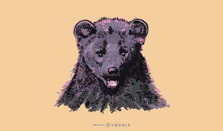 Fisher animal watercolor design