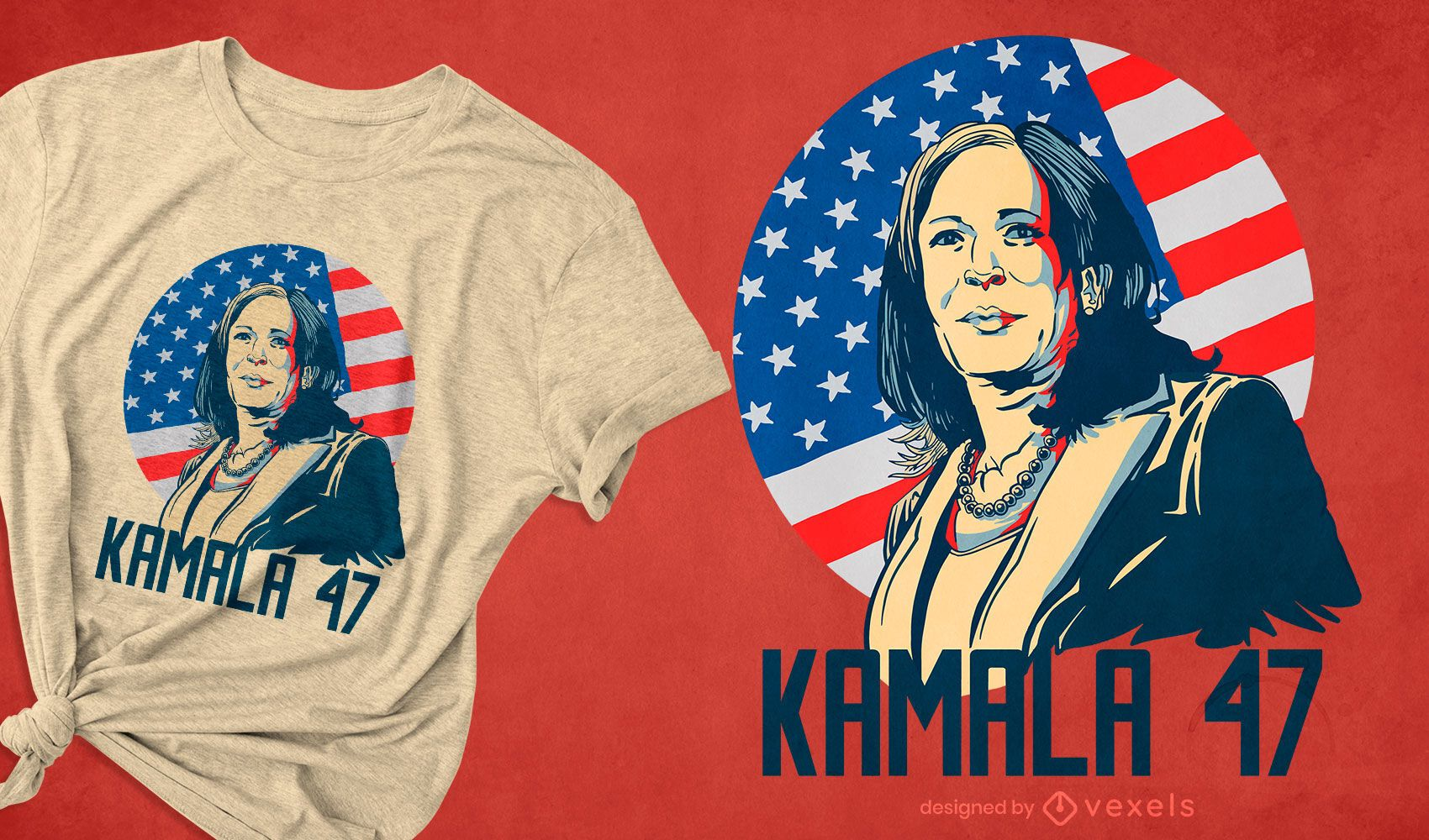 Diseño de camiseta Kamala 47