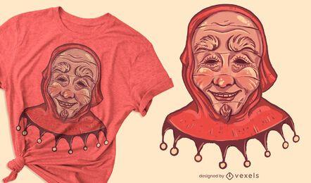 Diseño de camiseta de máscara de carnaval.