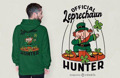 Design de camiseta de caçador de leprechaun