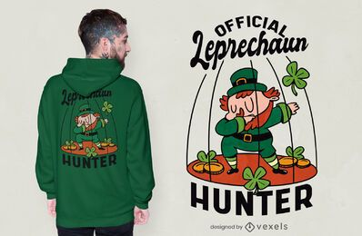 Diseño de camiseta de cazador de duendes.