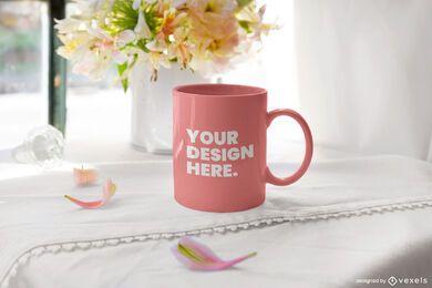 Petals mug mockup design