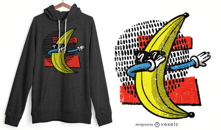 Design de t-shirt com toque de banana