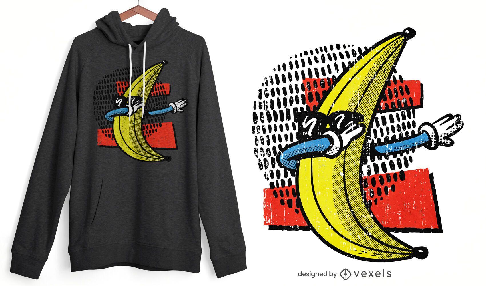 Diseño de camiseta banana dabbing