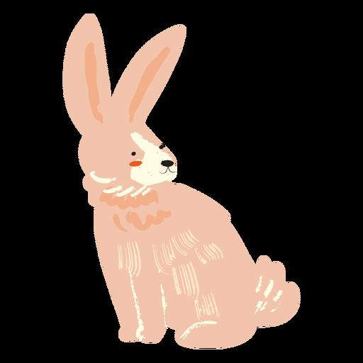 Sitting rabbit flat