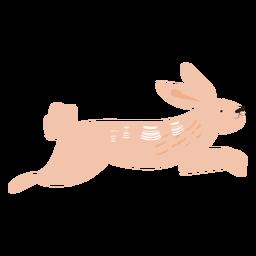 Saltando conejo plano