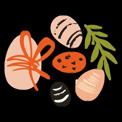 Easter eggs flat