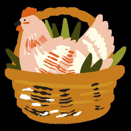 Cesta de pollo plana