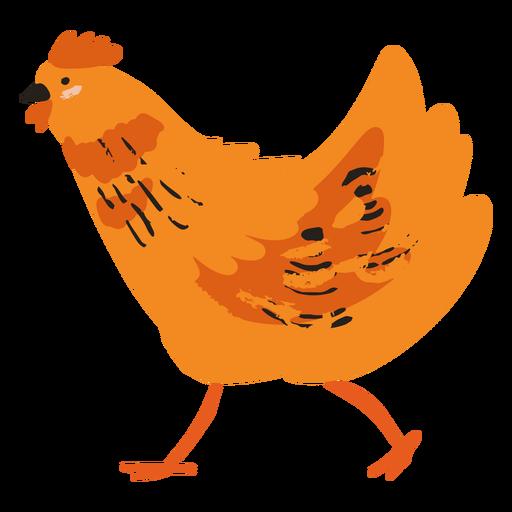 Pollo caminando plano