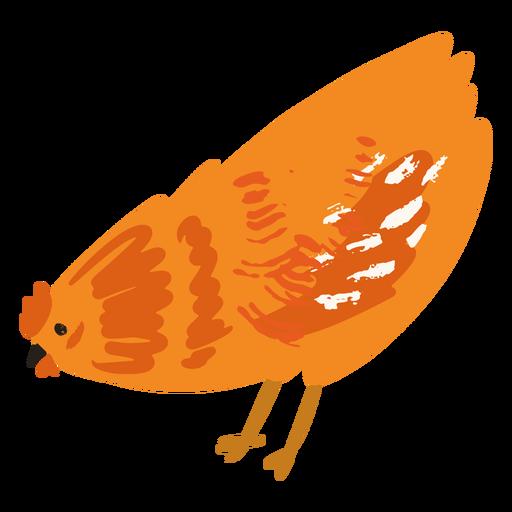 Chicken eating flat