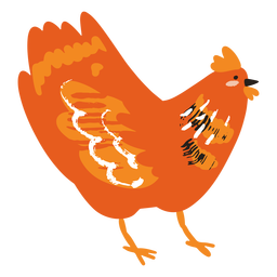 Plano de pollo inclinado