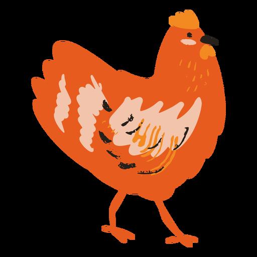 Standing chicken flat