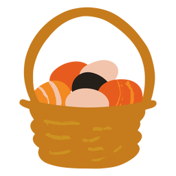 Easter egg basket flat