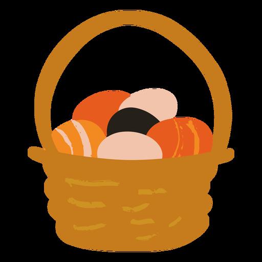 Cesta de huevos de pascua plana
