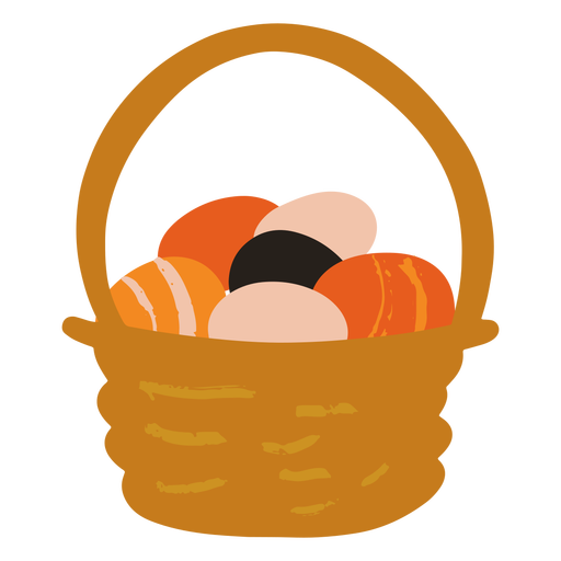Easter egg basket flat