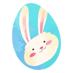 Easter egg happy bunny watercolor