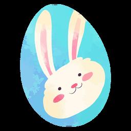 Huevo de pascua feliz conejito acuarela