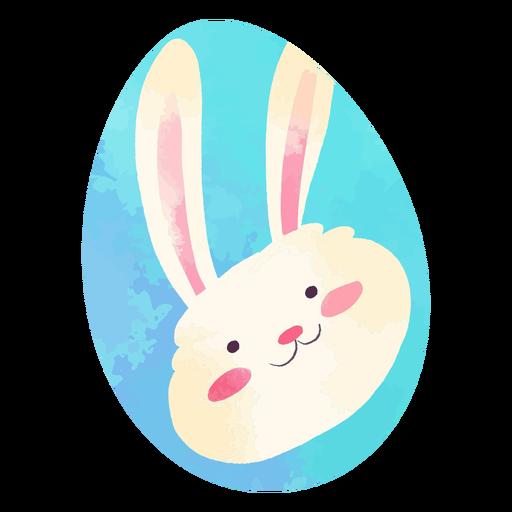 Easter egg happy bunny watercolor