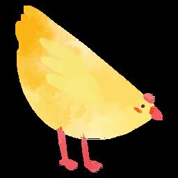 Acuarela de pollo lindo