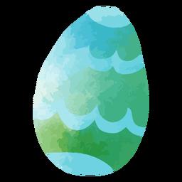 Huevo de pascua acuarela azul verdoso