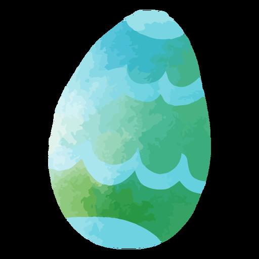 Watercolor easter egg ocean