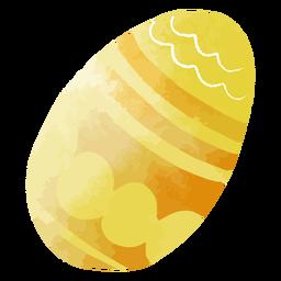Huevo de pascua acuarela amarillo-naranja