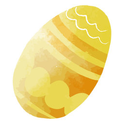 Yellow-orange watercolor easter egg