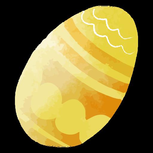 Huevo de pascua con patrón de acuarela