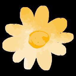 Gradiente de flor amarilla