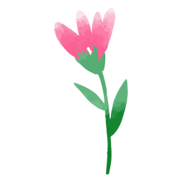 Watercolor tulip nature