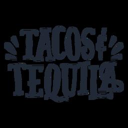 Letras de tacos e tequila