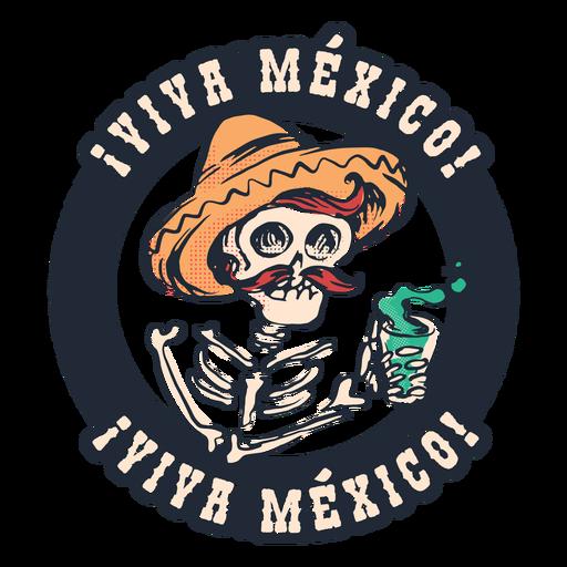 Insignia de viva mexico
