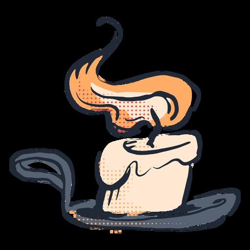 Burning candle doodle