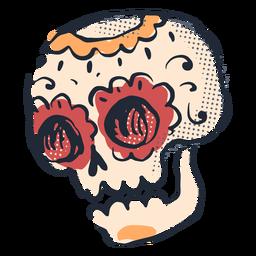 Doodle de calavera de azúcar de cinco de mayo