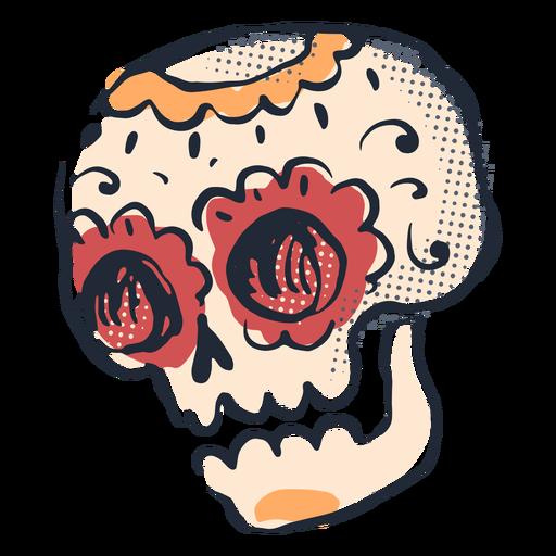 Cinco de mayo sugar skull doodle Transparent PNG