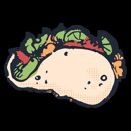 Doodle de taco sabroso