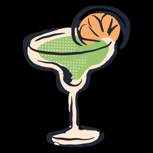 Grünes Cocktail-Gekritzel