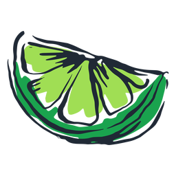 Lime slice doodle