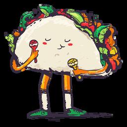 Doodle mexican taco