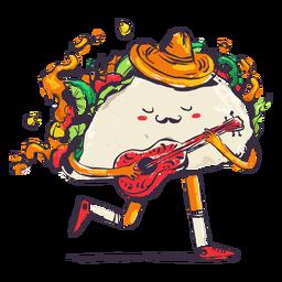 Taco playing guitar doodle