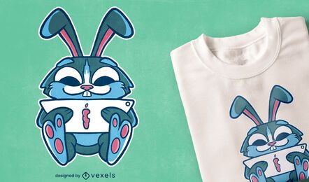 Studying bunny t-shirt design