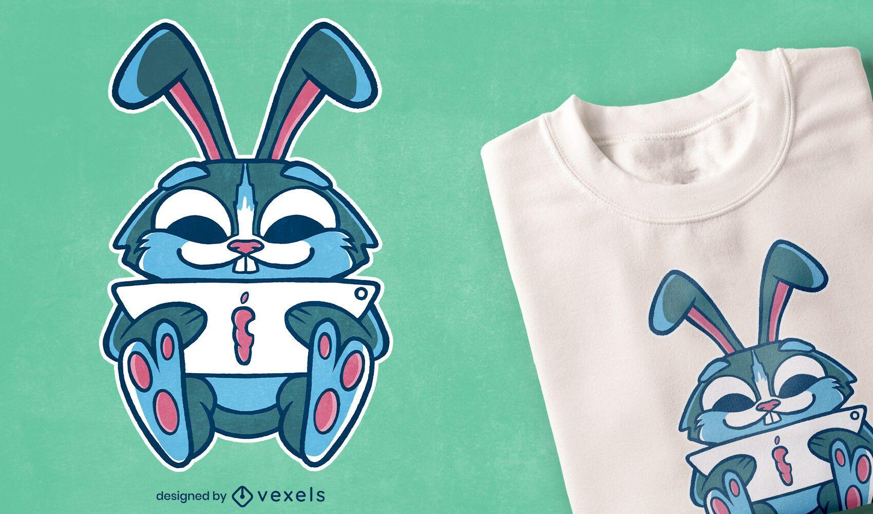 Studying bunny t-shirt design