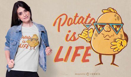 Diseño de camiseta de papa es vida.