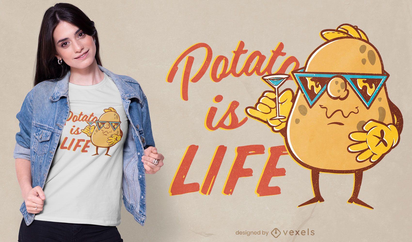 Potato is life t-shirt design
