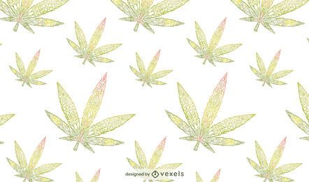 Cannabis leaves pattern design