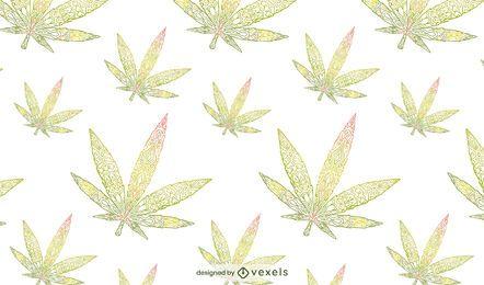 Desenho de folhas de cannabis