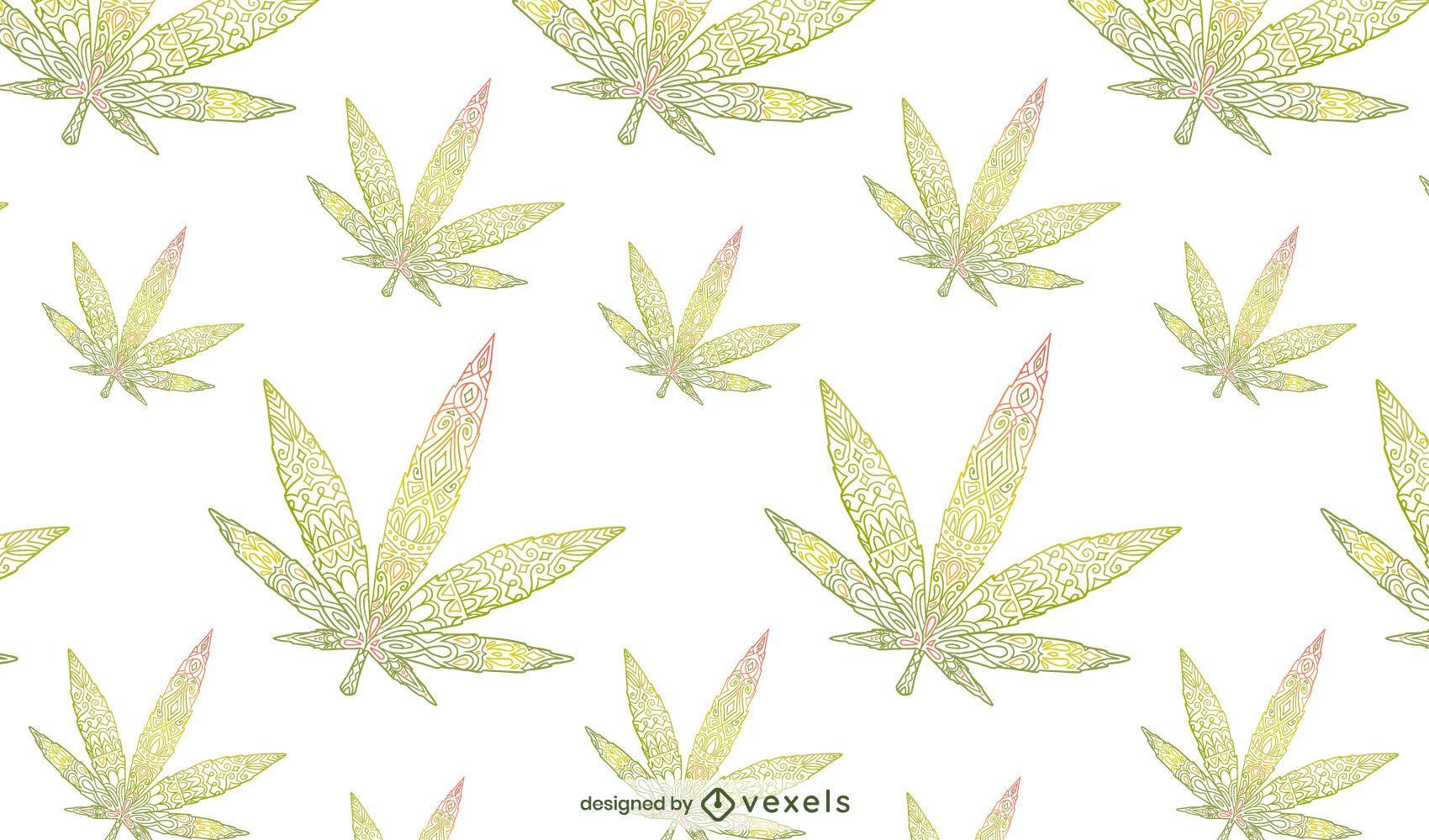Diseño de patrón de hojas de cannabis