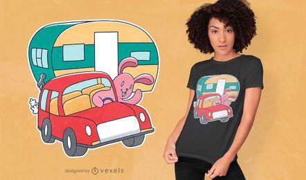 Diseño de camiseta camper bunny
